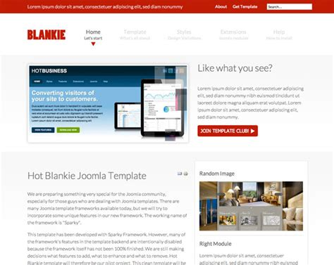 blankie clean joomla template hotthemes