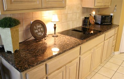 Colored Subway Tile Backsplash baltic brown granite makes your kitchen countertop looks