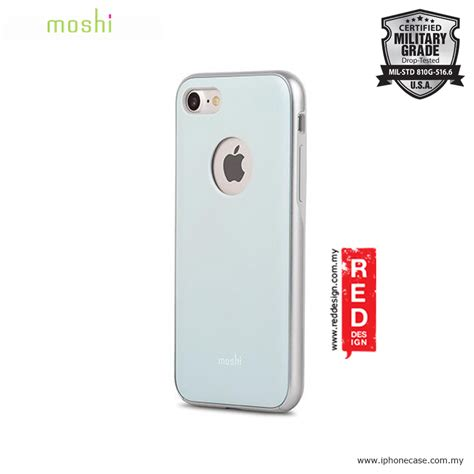 Moshi Iphone 7 Iglaze Powder Blue apple iphone 8 moshi iglaze slim lightweight back