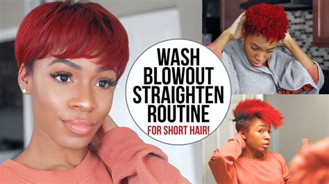 why my twa straight infront wash blow dry and flat iron routine for short natural