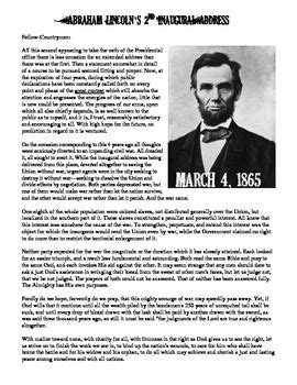 Abraham Lincoln Comprehension Worksheet by The World S Catalog Of Ideas