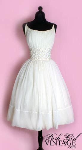 Posh Vintage Wedding Dresses by 1950 S White Tea Length Princess Wedding Dress Vintage