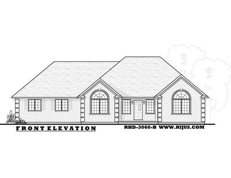 Rijus Home Design Ltd Ontario House Plans Custom Home Bungalow House Plans Ontario