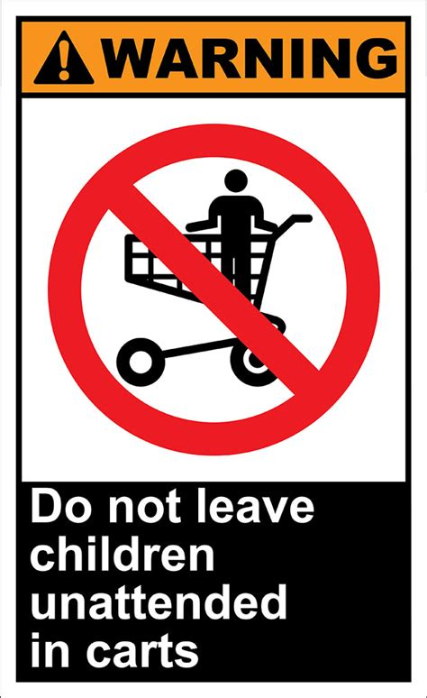 this does not leave this house books do not leave children unattended in carts warning osha