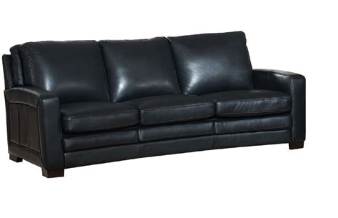 joanna top grain black leather sofa