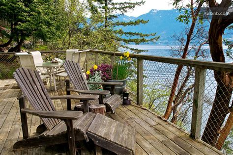 Bowen Island Waterfront Cottage by Spectacular Seasons All Glass Coffee Table Interior