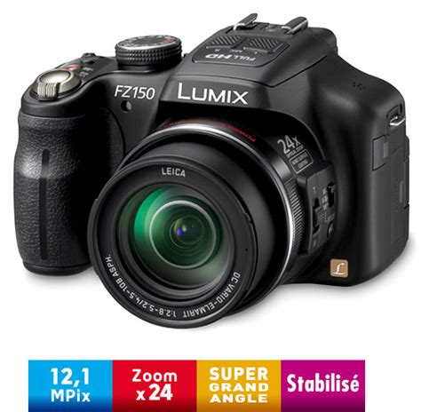 panasonic lumix dmc fz150 ef k noir appareil photo