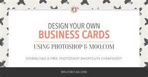 design your own business cards with photoshop and moo mccaig creative