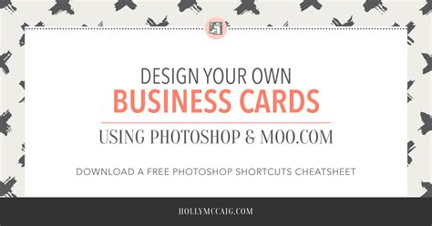 Design Your Own by Design Your Own Business Cards With Photoshop And Moo