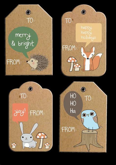 printable tags rustic rustic woodland holiday gift tags free printable
