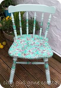 how to decoupage furniture decoupage chair