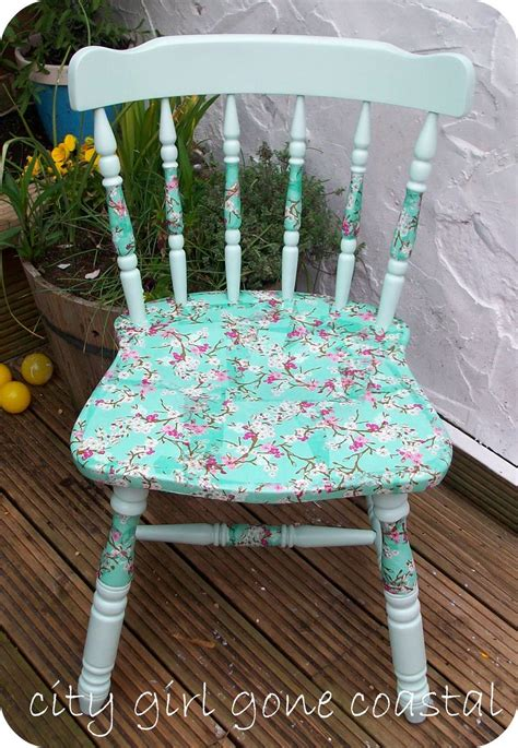 How To Decoupage Wood - decoupage chair
