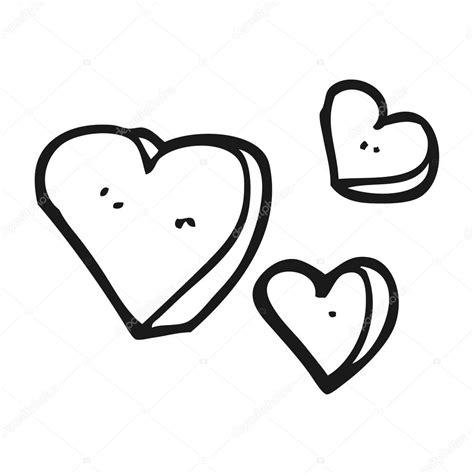 imagenes de corazones a blanco y negro corazones blanco y negro de dibujos animados vector de