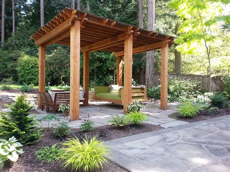 patio landscaping designs wood