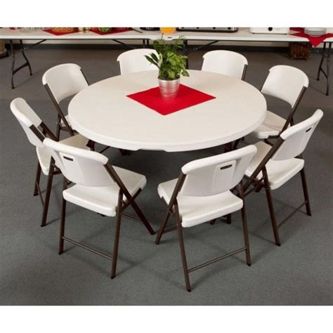 60 Inch Table Seats lifetime 60 inch table chair package 1 table 8