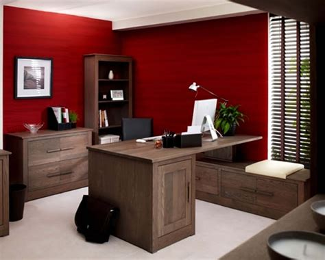 office color modern office with red color dands
