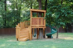 Casita Plans For Backyard Treehuts Treehouse With Swings Monkey Bars And Slide