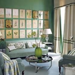 living rooms with green walls green botanical biology style living room