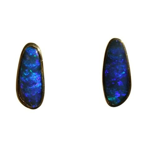blue opal earrings blue opal earrings 18k gold flashopal