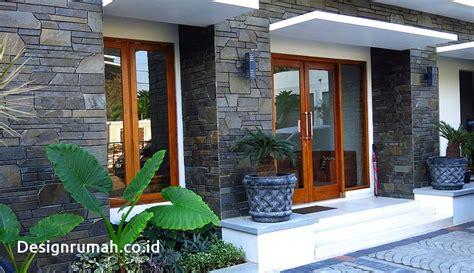 desain teras depan rumah batu alam 100 contoh desain rumah bergaya dengan batu alam terbaru