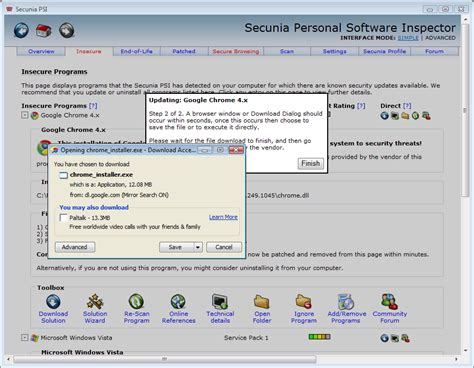 programs secunia secunia personal software inspector download
