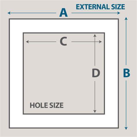 Photo Mat Sizes by Blackcore Matboard Cut To Size