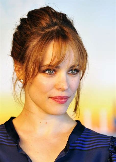 haircut for wispy hair bangs rachel mcadams and wispy bangs on pinterest
