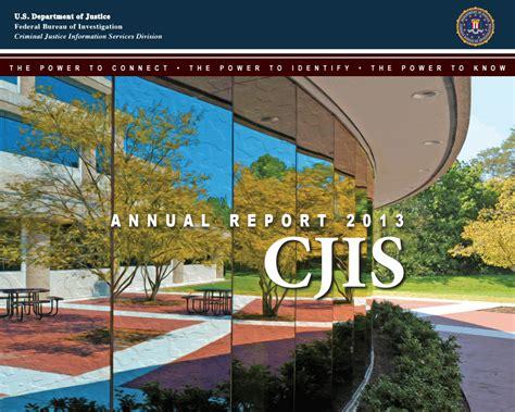Cjis Search 2013 Cjis Annual Report Fbi