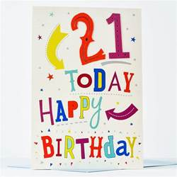 21st birthday card 21 today only 99p