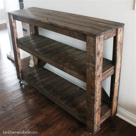 Diy Console Table Easy Diy Wooden Entryway Console Table Beckham