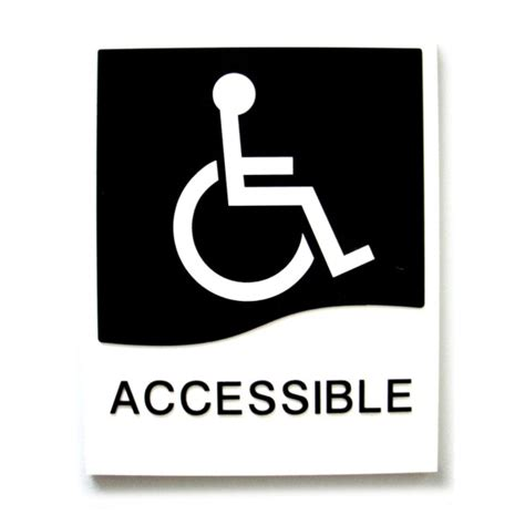 Toilet Sign No Sign Signed Metal Etching Name Plate accessible washroom door sign with braille bc site service