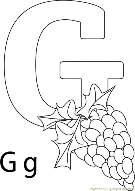 free coloring page of grapes g grapes coloring page free grapes coloring pages