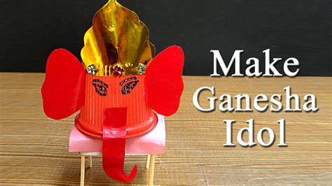 Craft Work With Paper Cups - ganesh puja craft idea make ganesh idol from paper cup