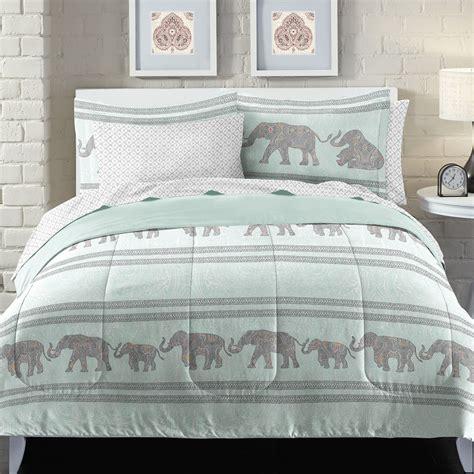 elephant comforter set loft style boho elephant bed in a bag set ebay