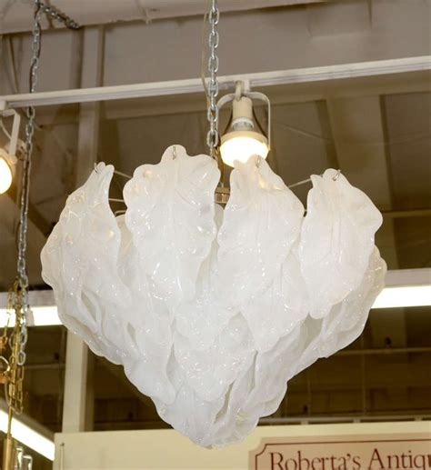 frosted glass chandelier camer chandelier with frosted glass quot leaves quot for sale at