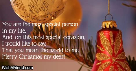 special person christmas message