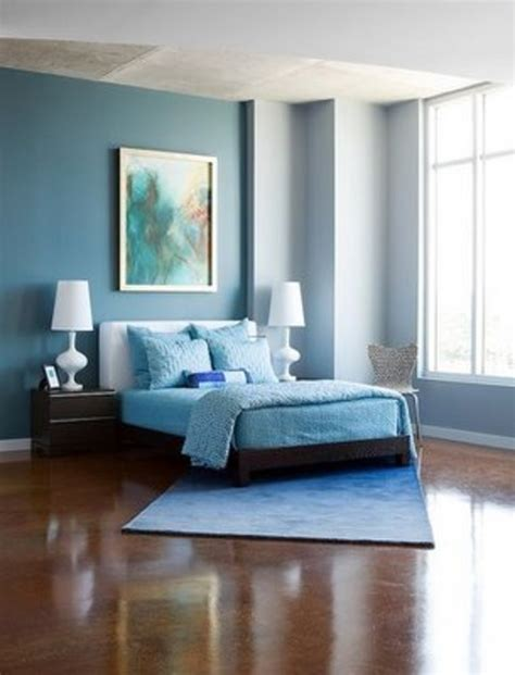 Blue Bedroom Color Schemes Modern Blue And Brown Bedroom Interior Decoration Design Bookmark 12326