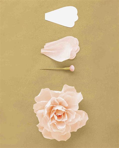 How To Make Paper Flowers For Wedding - how to make crepe paper flowers martha stewart weddings