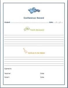 parent conference form template templates parent conference teachers free