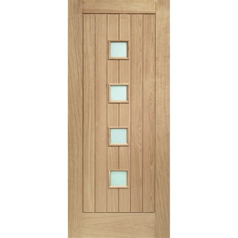 External Doors With Glass External Oak M T Glazed Siena Door With Obscure Glass