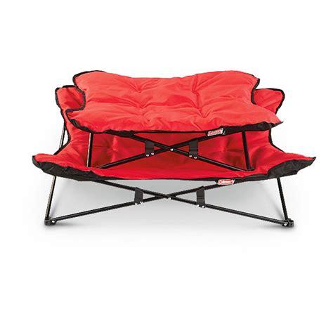 coleman bed coleman 174 pet lounger red black 225858 kennels beds