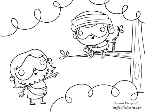 Coloring Page Zacchaeus by Colouring Page Jesus And Zacchaeus Ideas For Children S