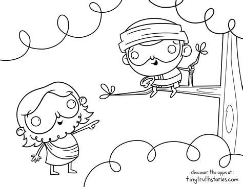 zacchaeus coloring page colouring page jesus and zacchaeus ideas for children s