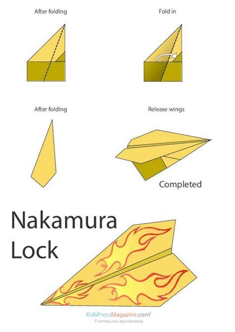 How To Make Paper Lock - paper airplane nakamura lock activities