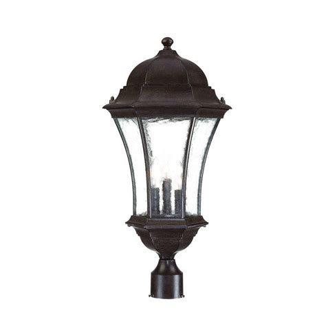 landscape lighting mounting posts acclaim lighting richmond 3 light matte black outdoor post mount light fixture 5208bk the home