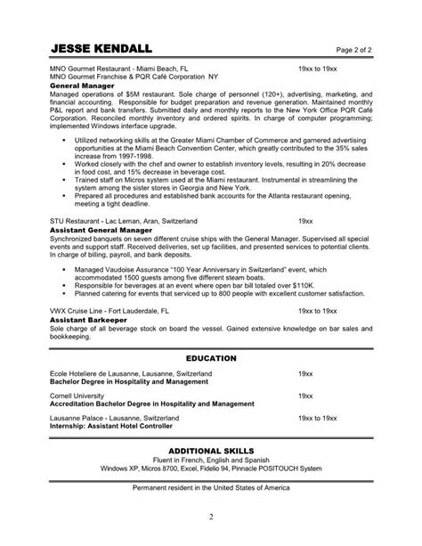 Restaurant Resume by Restaurant Manager Resume Http Topresume Info