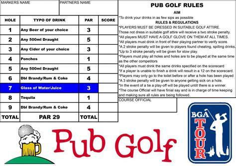 bar golf score cards template book tickets for pub golf pub crawl quicket