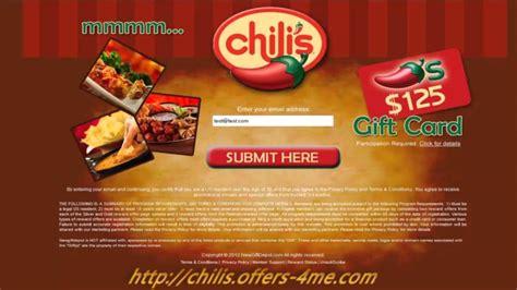 Chili S Restaurant Gift Card - 250 chilis gift card restaurant youtube
