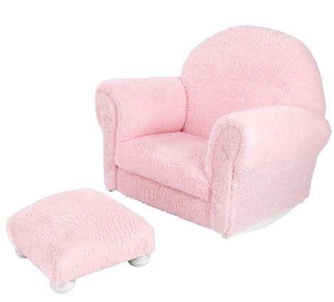 upholstered rocker with ottoman kidkraft upholstered rocker with ottoman pink chenille