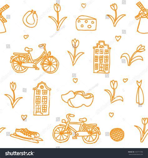 holland pattern stock seamless vector holland orange pattern 103771790